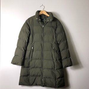 H&M Olive Green Puffer Long Jacket